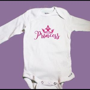 "Other - White ""Princess"" onesie"